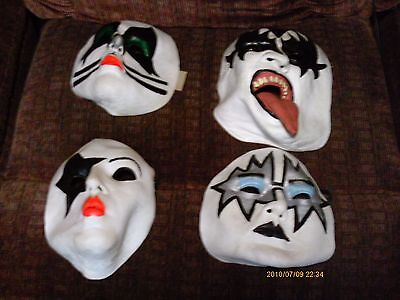 COLLECTORS SET of 4  KISS  mask's ADULT SIZE