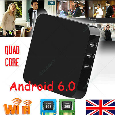 2017 Android 6.0 SMART 8GB Quad Core M X Q OTT WIFI TV Box Media Player Streamer