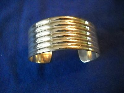 Vintage Sterling Silver Mexico .925 Cuff Bracelet - Stamped TD-31  .925 Mexico