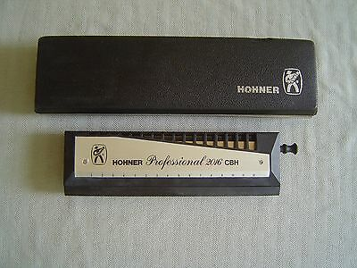 "Hohner ""professional 2016 Cbh"" Chromonica In ""c"" With Storage Box & Brochure"