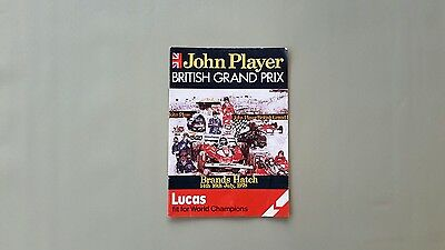 John Player British Grand Prix Brands Hatch Racecard 1978