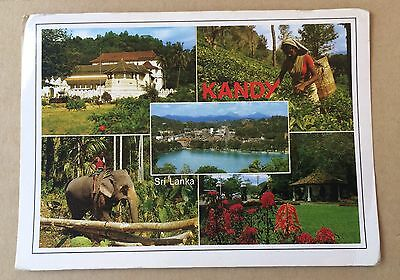 Kandy - beautiful used postcard with stamp Sri Lanka Ceylon 1992