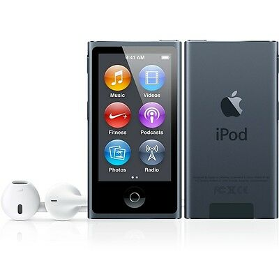 Apple iPod nano 7th Generation Space Grey / Black (16GB) (Latest)
