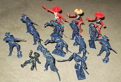 Lot of Vintage US Cavalry & Mexican Bandit Figures.
