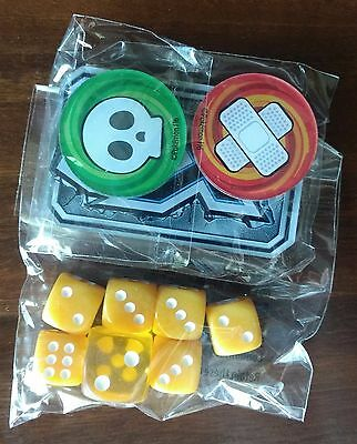 Pokemon Guardians Rising Elite Trainer Box Yellow 7 Dice Set + 3 Markers inc GX