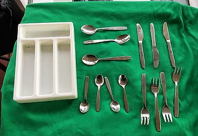 Mixed 14 piece lot of Children's Play Utensils...plastic tray organizer~IKEA