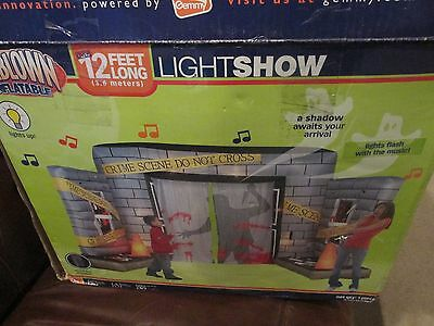 Gemmy Airblown Inflatable OVER 12' Halloween Crime Scene MUSICAL Lightshow