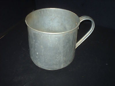 vintage drinking cup kitchen tin whares