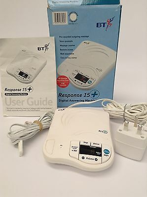 BT Response 15+  Digital Telephone Answering Machine Tested and Working, Bundle