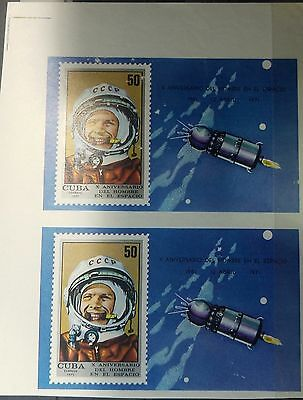 O) 1971 Caribe, Imperforate, Space- Yuri Gagarin-Russian Cosmonauta-First Human