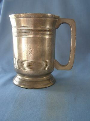 Victorian Pewter Pint Tankard In Very Good Condition With No Damage At All.