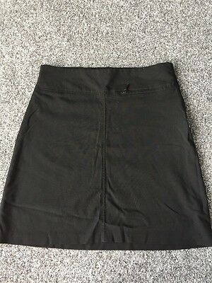 Girls Age 15 Years Black Marks And Spencer School Skirt