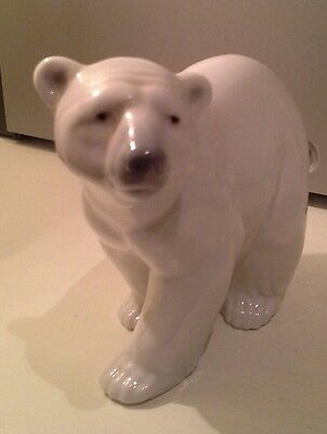 Lladro Spanish Porcelain Polar Bear Walking Excellent Condition