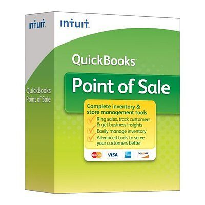 Genuine Intuit Quickbooks Point Of Sale Basic V12 New User Boxed Pos New