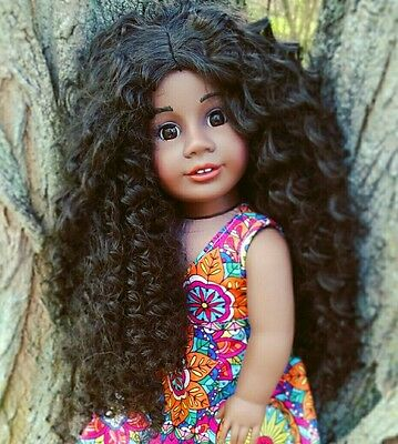 OOAK Custom Doll Wig for American Girl Dolls in The Diana