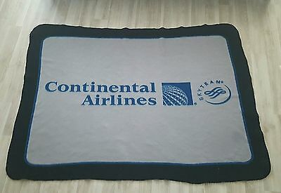 Vintage Continental Airlines Throw Blanket Rare Collectors Item Sky Team