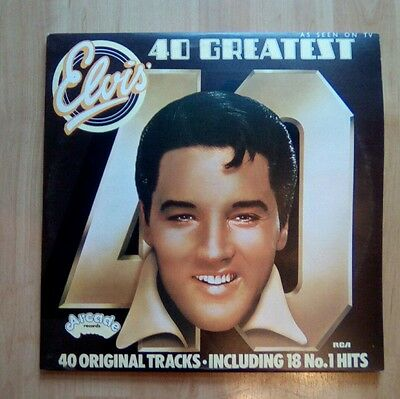 ELVIS PRESLEY  Double Vinyl LP  40 Greatest Hits  EX+