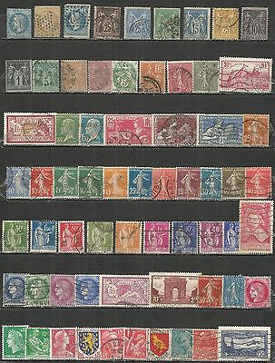 France from 1853 year , nice collection old used stamps