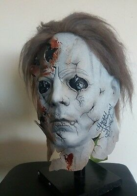 michael myers mask prop. rob zombies halloween 2 .rare freddy jason
