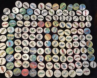 Lot of 144 Jell-O Collectors Picture Wheel Coins Mixed Colors, Planes, Cars