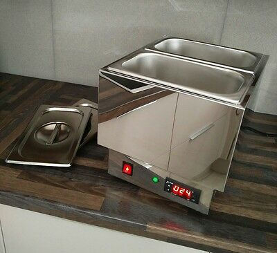2 1/4 thermostatic dry well chocolate tempering bain marie + 1/2 well extra