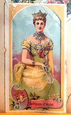 Antique Victorian Trade Cards ''The Princess of Wales'' +8 Cards scrapbook page
