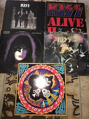 KISS Lp Lot Of 5 Records Classic Hard Rock Metal Read Description