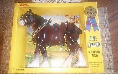 Justen Blue Ribbon Clydesdale Horse -1983