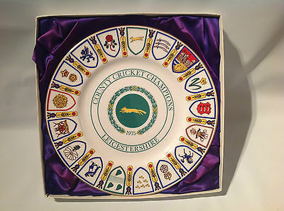 Leicestershire County Cricket Champions 1975 - commemorative plate