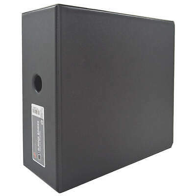 ABILITY ONE Three Ring Binder,D-Ring,Black,5 in., 7510-01-392-5283, Black