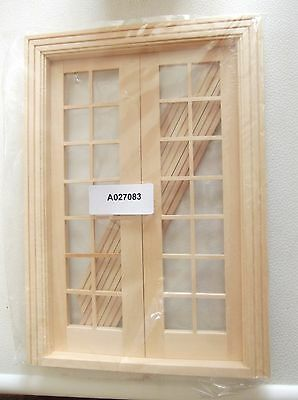 Dolls house 1/12th 3x french windows BNIP cost £6.99 each  see description