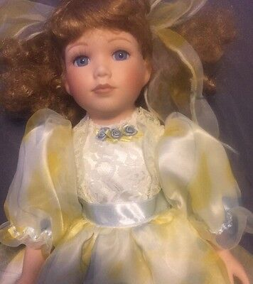 Seymour Mann Connoisseur Collection Penny Doll A Handcrafted Porcelain Doll