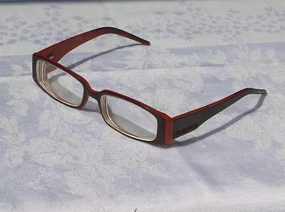 80's Vintage Retro Osiris Red Glasses Spectacles