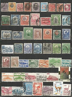 Peru  nice collection old mint/used stamps
