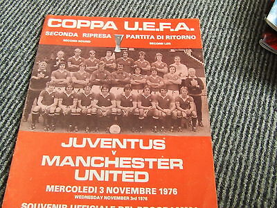 Juventus V Manchester United 1976-7 Uefa Cup 2Nd Round