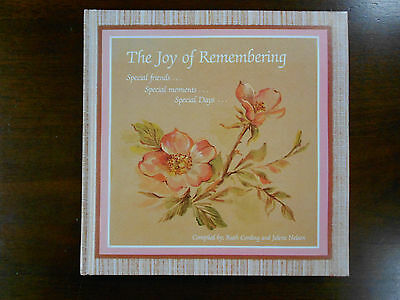 The Joy of Remembering.  Ruth James Cording 365 Day Journal with Scriptures