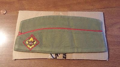 Vintage Boy Scouts BSA Garrison Sanforized Hat Cap 1950s Size Medium