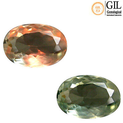 0.66 Ct Free GIL Cer Magnificent Oval 6 x 4 mm Natural Green To Red Alexandrite