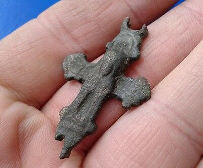 Ancient Bronze Cross-encolpions. 9th to the mid-13th century.  # 47.