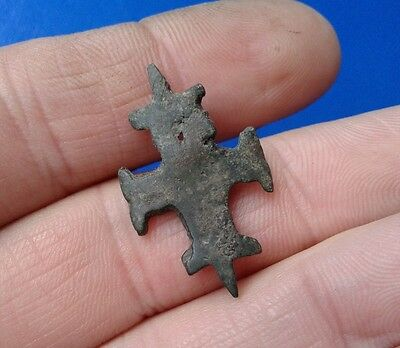 Ancient Bronze Cross-encolpions. 9th to the mid-13th century.  # 38.