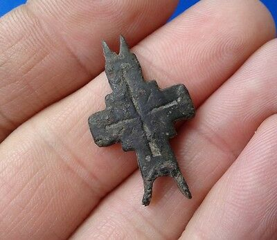 Ancient Bronze Cross-encolpions. 9th to the mid-13th century.  # 37.