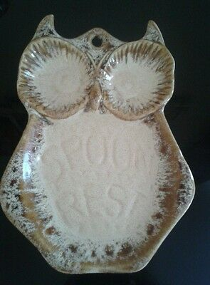 Fosters Honeycombe Pottery... Owl spoon rest