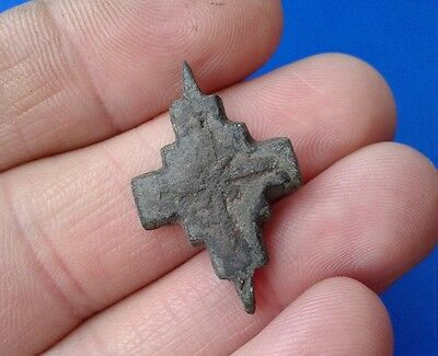 Ancient Bronze Cross-encolpions. 9th to the mid-13th century.  # 34.