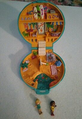 polly pocket plage beach party et 2 personnages 1989
