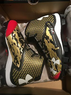 New UA Under Armour Deception Mid Youth Baseball Cleats  Bryce Harper Size 1y