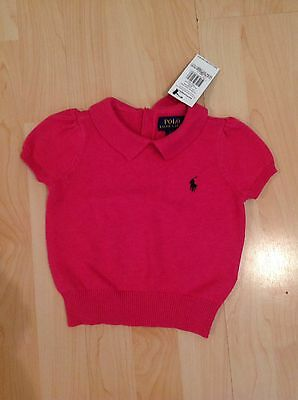 Polo Ralph Lauren Girl's Pink Knit Top For 2 Years BNWT