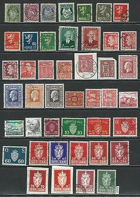 #7620 NORWAY Lot of Used Stamps