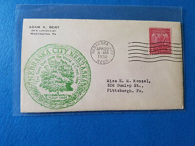 US FDC # 717 Arbor Day Adam Bert Cachet