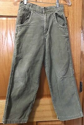 Vintage~FADED GLORY~Cotton Corduroy + Olive Green Boys Pants Size 10~Unique