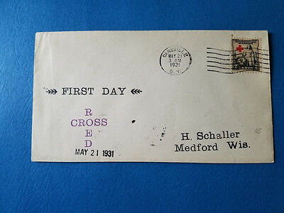 US FDC # 702 Red Cross Unusual Cachet